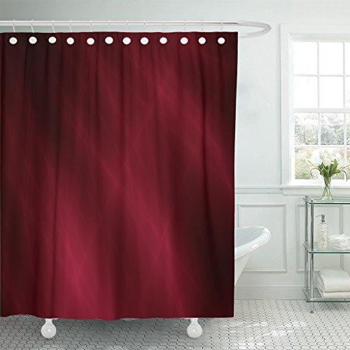 Breezat Shower Curtain Watercolor Gradient Silk Velvet Red Deep Design Satin Waterproof Polyester Fabric 72 x 78 Inches Set with (Satin Velvet Curtain)