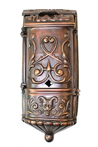 - Victorian Mail Box Mailbox Vintage Style Aged Darkened Solid Brass Heavy