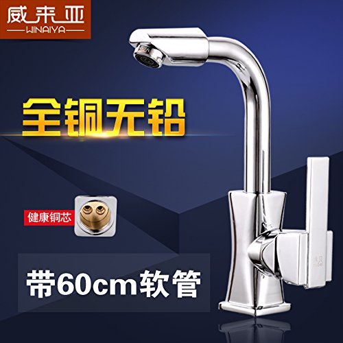 Brass and Cold Water Faucet NewBorn Faucet Kitchen Or Bathroom Sink Mixer Tap Water Tap Dish Washing Basin Cold Water Taps Full Brass Valve Body To redate The Sink Water Tap Brass, Hot & Cold Water Water Tap