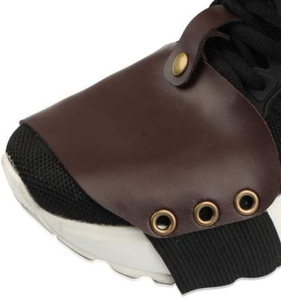 Black Qii lu High Quality PU Material Motorcycle Shift Guard Shoes Boots Protector Cover