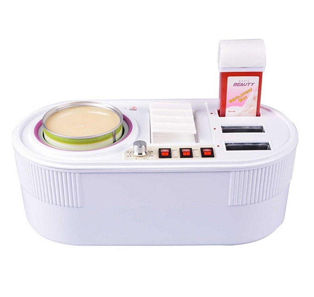 Electric Depilatory Heater Wax Warmer Body Hair Removal Kit 450ml Pot + 3 Roll Wax Parrafin Beauty Salon Hot Facial Skin Equipment wexe.com