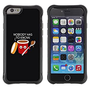 Lady Case@ Food Black Quote Funny Rugged Hybrid Armor Slim Protection Case Cover Shell For iPhone 6 Plus CASE Cover ,iphone 6 5.5 case,iPhone 6 Plus cover ,Cases for iPhone 6 Plus 5.5