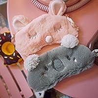 Phishinno Antifaz para Dormir, 2 Unidades, 3D, diseño de Conejo, Color Rosa, Gris, Koala, para Dormir, con Tapones para los oídos