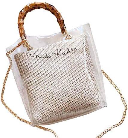 透明 ショルダーバッグ 韓国風 レディース バッグインバッグ 3way シンプル 軽量 大容量 バッグ おしゃれ レジャーバッグ 3色選べる ビーチチェーンメッセンジャーバッグ