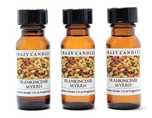Ладан Мирра 3 бутылки 1/2 жидких унций Каждый (15 мл) высший сорт Ароматические масла аромат сумасшедшие Свечи