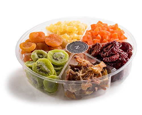The Nuttery Gourmet Dried Fruit Gift Tray-Healthy Snack Sectional Gift Basket- Dried Fruit Mix Gift Set
