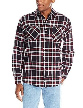 Wrangler Authentics Men's Long-Sleeve Flannel Shirt,Caviar,Small