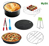 MySit 7'' Air Fryer Accessories 8pcs for Gowise Phillips and Cozyna Fit all 3.7QT-5.3QT-5.8QT(AirFryer_7in)