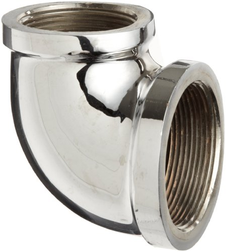 Elbow Reducing Brass (Chrome Plated Brass Pipe Fitting, 90 Degree Reducing Elbow, 1/2
