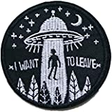 Embroidery UFO Flying Saucer Sew Iron On Patch Badge Bag Hat Jeans T-Shirt Applique Crafts