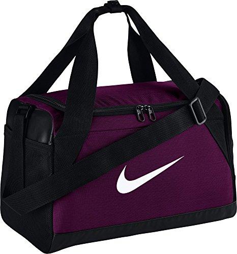 Nike Brasilia Duffel Bag (X-Small) True Berry/Black/White by NIKE