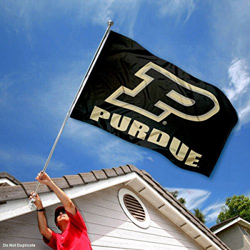 College Flags and Banners Co Purdue Boilermakers Slant P Flag