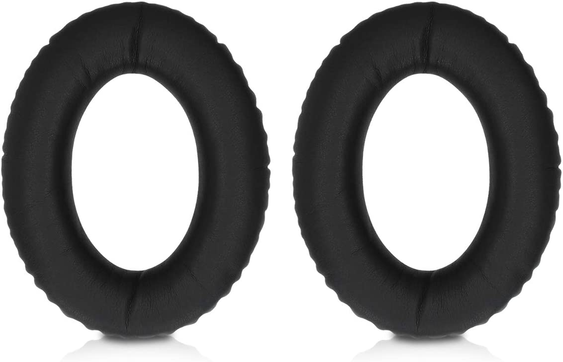 PU Leather Replacement Ear Pads for Over-Ear Headphones kwmobile 2X Earpads for Kingston HyperX Cloud Revolver S Black