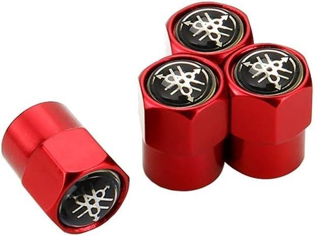 Color : Black Car Styling M/étal ENJOLIVEURS Stem Tire Valve Caps D/écoration For Yamaha Majesty R6 R1 R3 FZL Vstar MT 07 09 Banshee