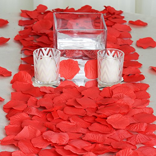 BalsaCircle 4000 Red Silk Artificial Rose Petals Wedding Ceremony Flower Scatter Tables Decorations Bulk Supplies Wholesale - Red Scatter Petals
