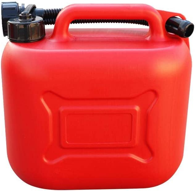 knowledgi 5L Gasoline Oil Container Red Cans Gas Fuel Tank With Scale Thickened Anti-static Spare Plastic Petrol Tanks