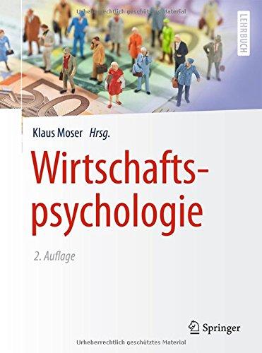 Wirtschaftspsychologie  Springer Lehrbuch