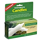 Coghlans Emergency Candles -- Pkg Of 2 Contains Two Candles And Two Metal Candle Holders