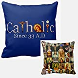 Catholic Church Since 33 A.D. Saints Throw Pillow