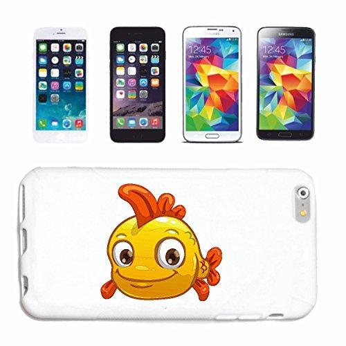 """cas de téléphone iPhone 7 """"Sneak goldfisch SMILEY """"sourire EMOTICON sa SMILEYS SMILIES ANDROID IPHONE EMOTICONS IOS APP"""" Hard Case Cover Téléphone Covers Smart Cover pour Apple iPhone en blanc"""