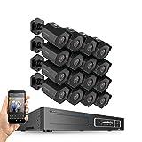 Amcrest 4MP Security Camera System, w/ 4K 32CH (16-Port PoE) NVR, (16) x 4-Megapixel 3.6mm Wide Angle Lens Weatherproof Metal Bullet POE IP Cameras, NV4432E-HS-IP4M-1026EB16 (Black) Review