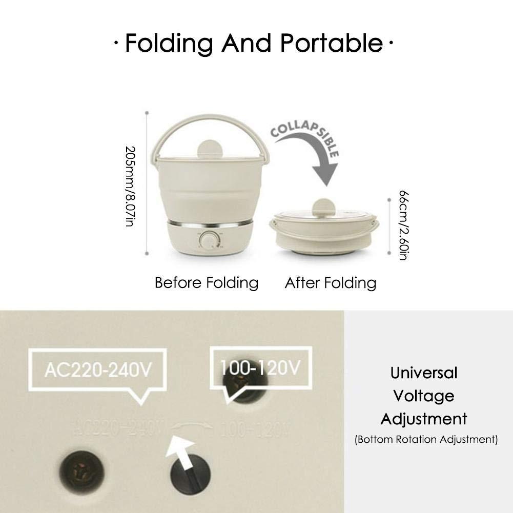 SinceY Po/êle /électrique Multi Cuiseur Double Voltage100V-240V Mini cuiseur de cuisini/ère en Silicone de cat/égorie Comestible en Silicone pour cuiseur de marmite /électrique Pliable