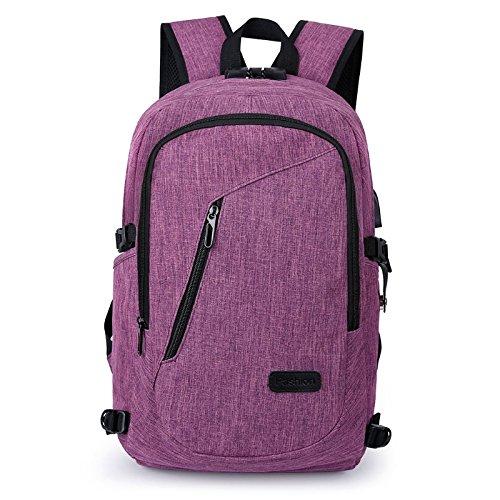 JAGENIE Bolso mochila para mujer Purple01 Purple01