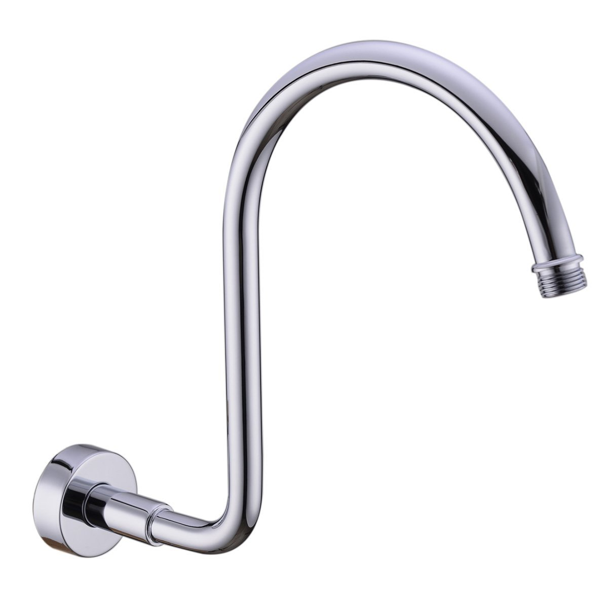 HANEBATH Brass GOOSENECK Extension Shower Arm with Flange, Chrome ...