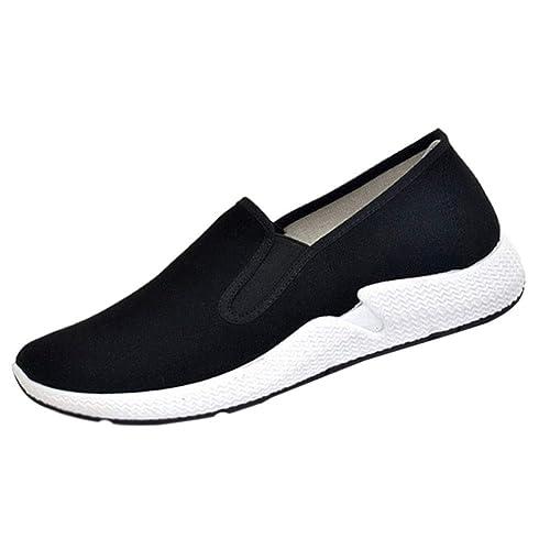 Daytwork Lona Paño Zapatos Hombre - Kung Fu Zapatillas Artes Marciales Suave Cómodo Transpirable Lienzo Informal Flexible Fitness: Amazon.es: Zapatos y ...
