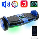 OSDRICH A8 Hoverboard with Bluetooth Speaker Self Balancing Scooter, LED Lights, Smart App Control (UL 2272 Certified) (Blue)