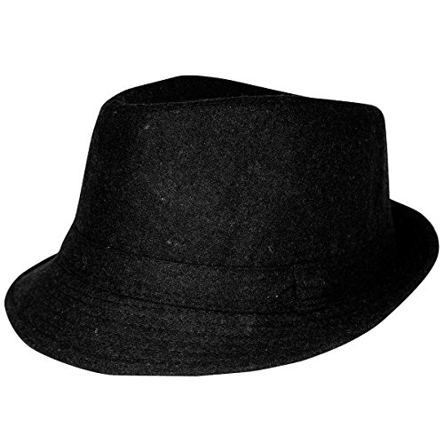 Classic Black Fedora Hat - Classic Fedora Hat In Black For Stylish Look (Felt Fedora Hats)