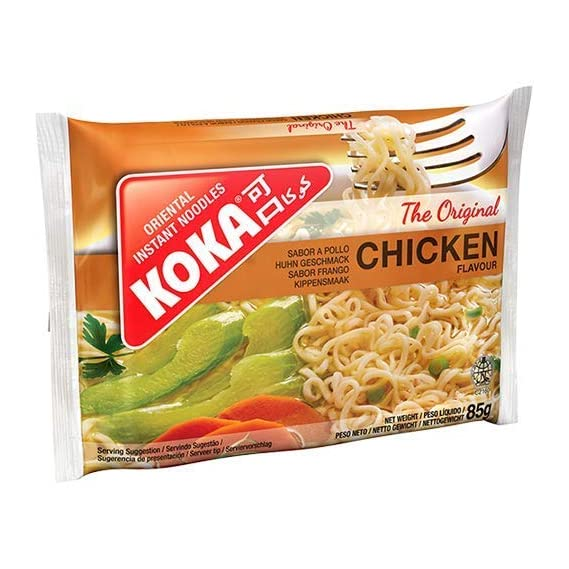 Koka Oriental Instant Noodles The Original Chicken Flavour(Pack of 9)