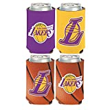 WinCraft NBA Los Angeles LA Lakers 2 PACK 12 oz. 2-Sided Can Coolers