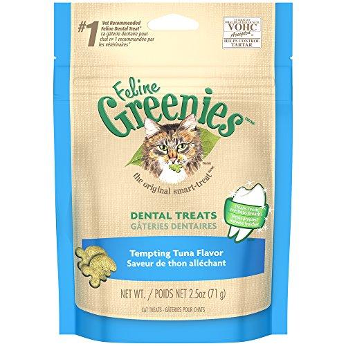 FELINE GREENIES Dental Treats for Cats Tempting Tuna Flavor 2.5 oz.