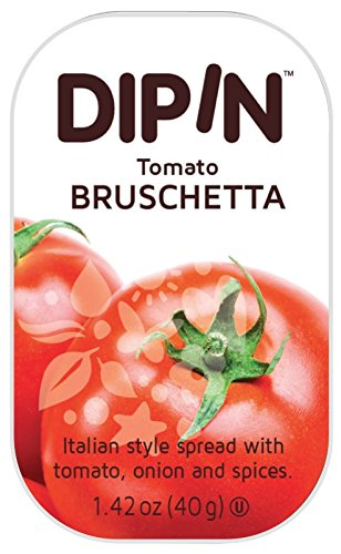 (Sheffa DipIn Tomato Bruschetta Dip, 1.42 oz (12 Pack) Long Shelf Life Italian Style Bruschetta Spread With Tomatoes Onions & Spices)