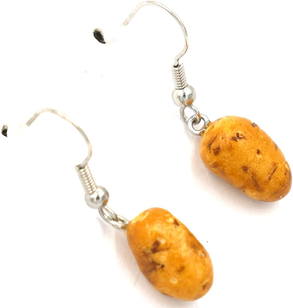 Polymer Clay Handmade Farm Fresh,Mini Potatoes Earrings