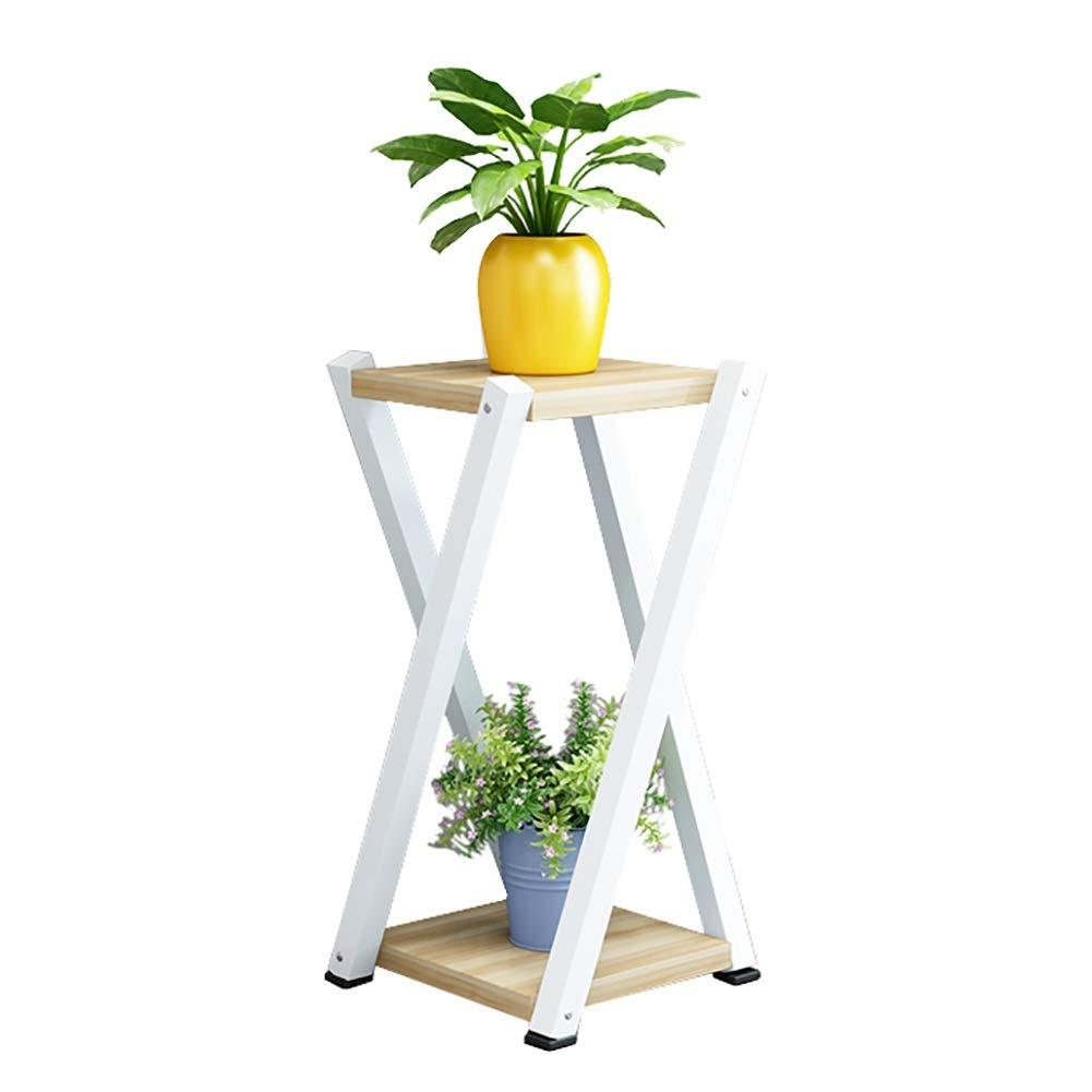 qualità ufficiale Porta Piante- Piante- Piante- Supporto per Fiori Flower Plant, Rack Multifunzionale per Soggiorno (2 Livelli) (colore   Light Walnut, Dimensioni   High 60cm)  outlet online economico