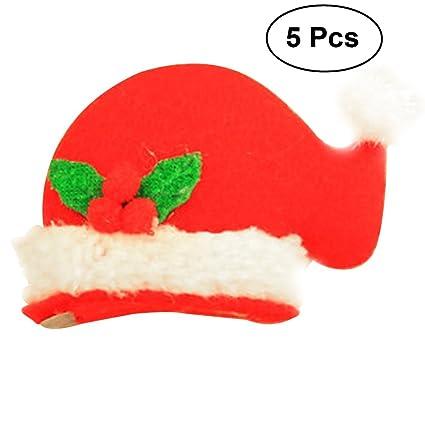 Amazon TINKSKY LED Light Up Christmas Hat Hair Clip Fun Xmas