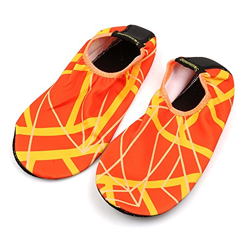 Aqua Yoga Exercise Mens Beach Swim Unisex Kids Orange for Socks Outdoor Shoes Womens Surf 4 Water SKITCH Summer UBx0qOpB