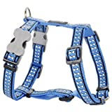 Red Dingo Reflective Dog Harness, Large, Mid-Blue