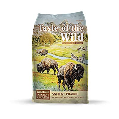 Taste of the Wild High Protein Real Meat Recipe Natural Dry Dog Food with Real Roasted Bison & Roasted Venison