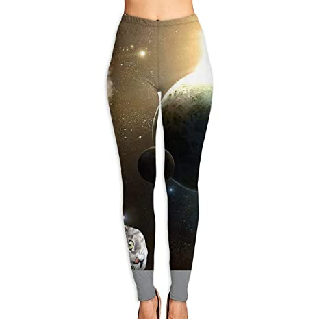 Amazon.com: Womens Yoga Leggings Pants Cool Cats in Space ...