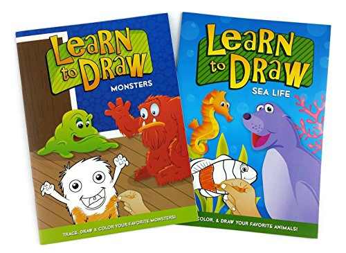 Learn to Draw Book Collection (Trace & Draw - Pack of 2) - Monsters and Sea Life