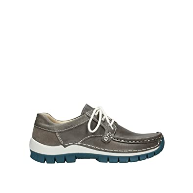 1e7b597d1b2dbb Wolky Comfort Lace up Shoes Seamy Fly - 35208 Grey/Blue Leather - 36