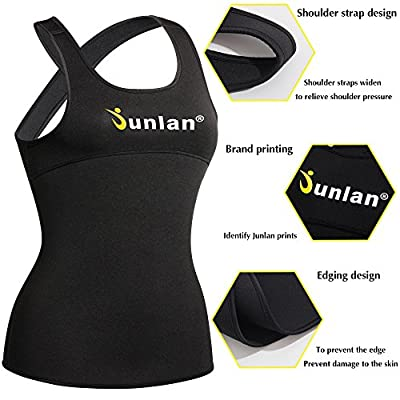Women Workout Tank Top Exercise Shirt Neoprene Sauna Fitness Sport Clothes Athletic Yoga Running Training Vest
