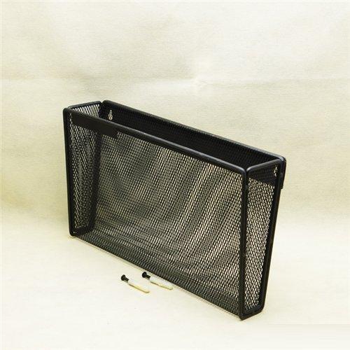 Stock Show Large Black Mesh Collection Metal Wall File/Magazine Basket/Pocket/Storage - Hanging Basket Collection