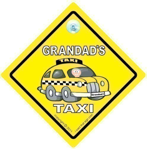 Baby on Board Style Car Safety//Novelty Car Window Sign Grandad Car Sign Grandads Car Sign GRANDADs TAXI Car Sign