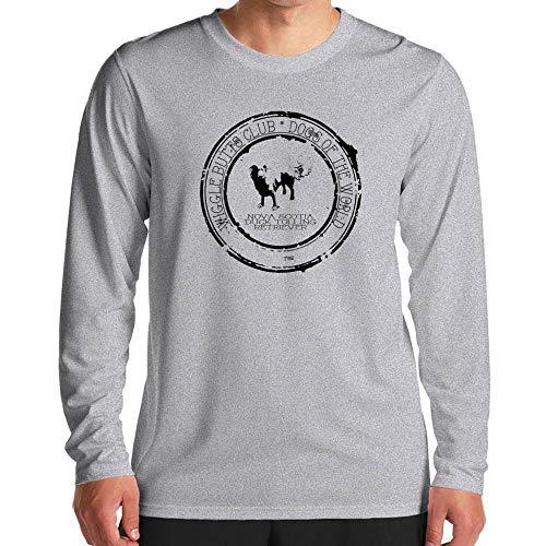 Idakoos Nova Scotia Duck Tolling Retriever Wiggle Butts Club Stamp Long Sleeve T-Shirt L Heather Gray