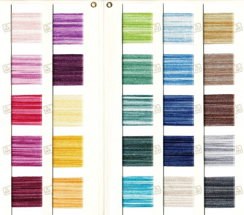 Superior Threads - Silk Embroidery Floss for Hand Sewing, Color Book - Made with Actual Thread - 25 Colors