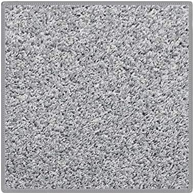Pewter Area Rug Carpet. 25 oz. Face Weight. 1 2 Thick. Polyester. Loose and Soft Frieze. Square 12 x12 , Pewter